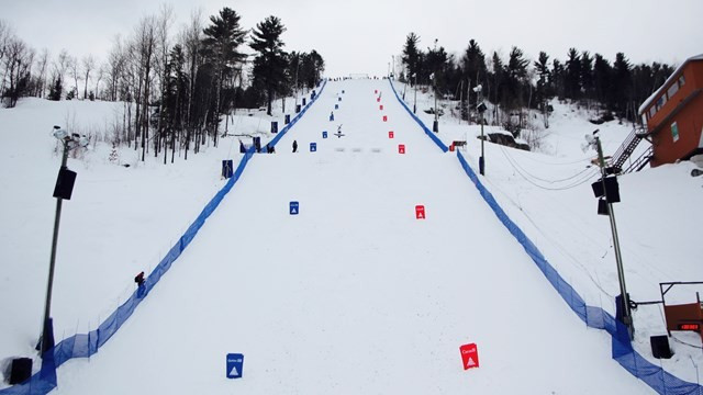 The Alex Bilodeau moguls course in Val St Come is set to play host to this weekend's World Cup ©FIS