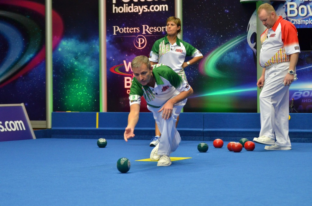 Gourlay and Murphy through to mixed pairs semi-finals at World Indoor Bowls Championships