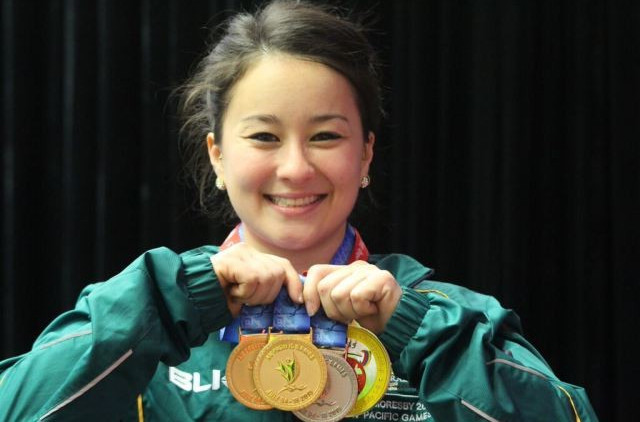 Erika Yamasaki secured Australia's first-ever Pacific Games gold medal as she won two titles in the women's 53kg division ©Port Moresby 2015