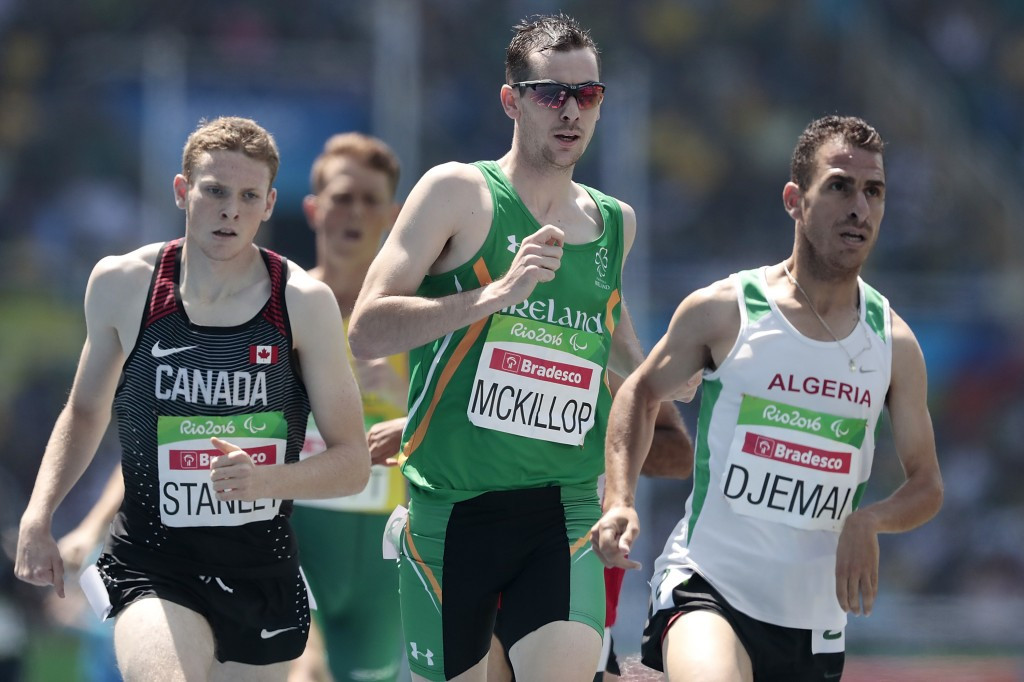 Michael McKillop won the 1,500m T37 gold medal at the Rio 2016 Paralympic Games ©Getty Images