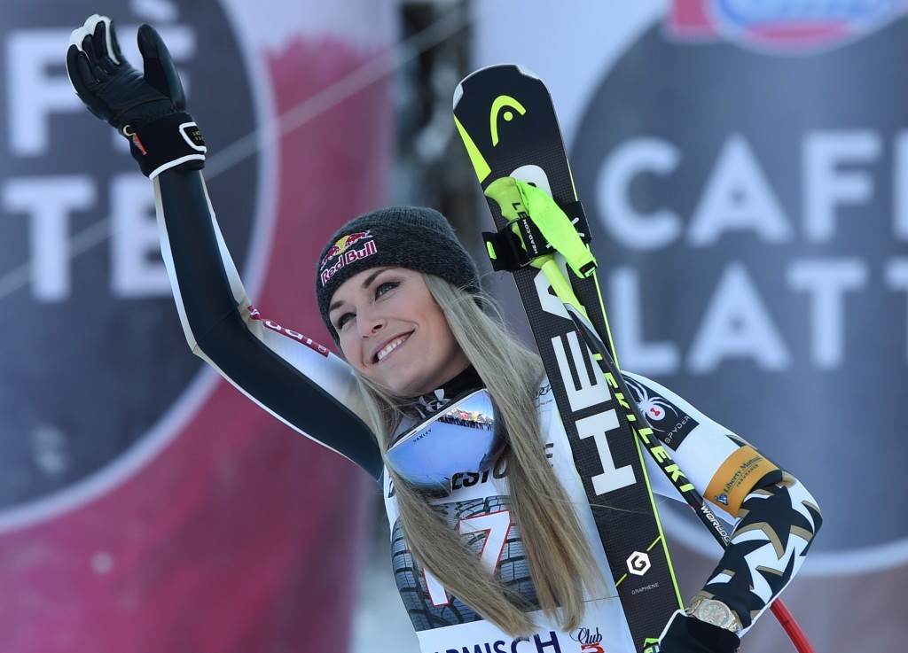 American Lindsey Vonn marked her second race since returning from a lengthy injury lay-off by winning the women's downhill at the FIS Alpine Skiing World Cup in Garmisch Partenkirchen ©Getty Images
