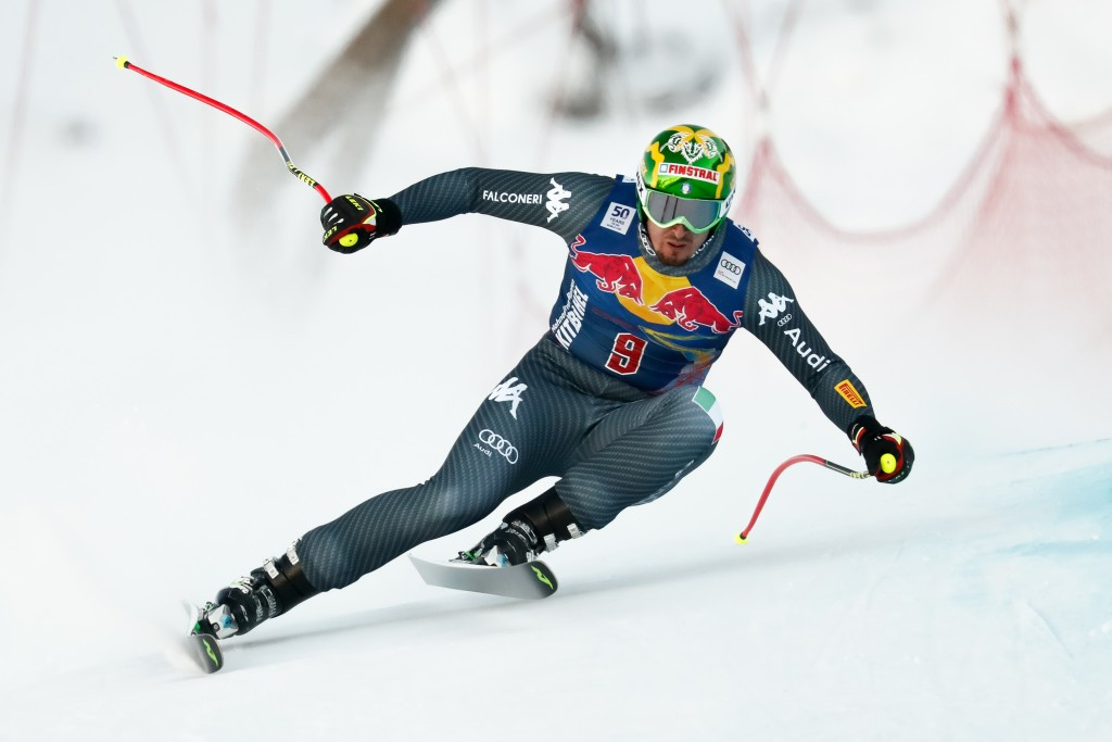 Italy's Dominik Paris won today's men's downhill event in Kitzbühel ©Getty Images