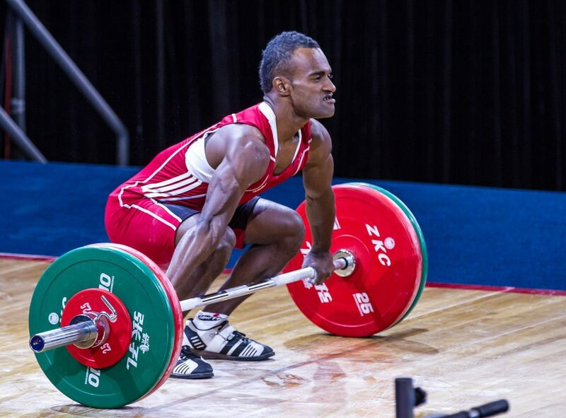 Manueli Tulo of Fiji produced an excellent display to win all three medals in the men's 56kg competition