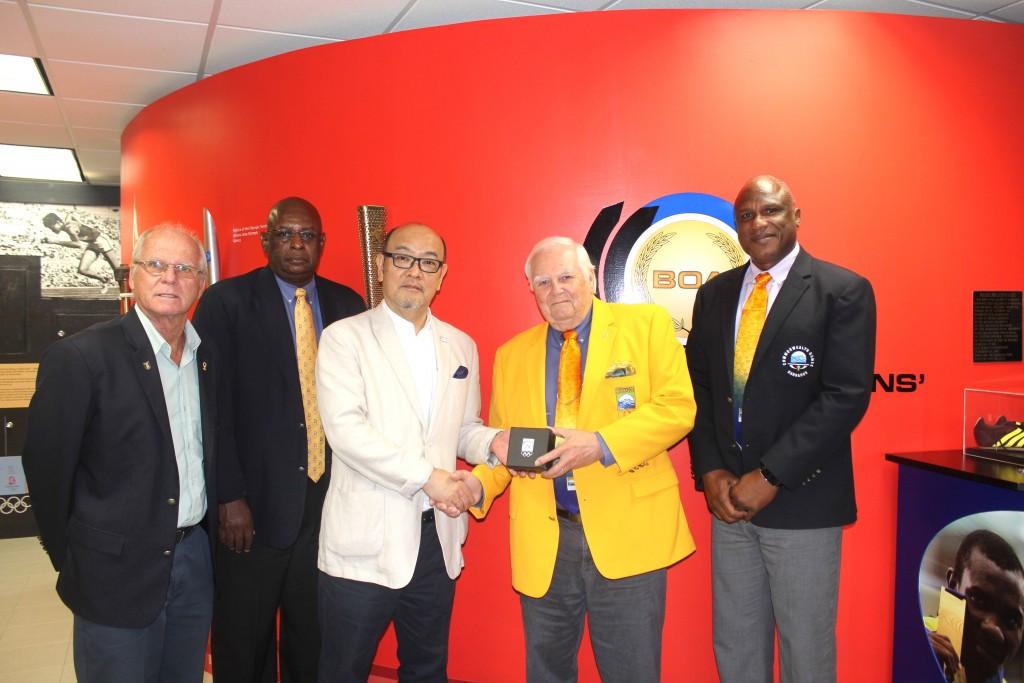 The Barbados Olympic Association has welcomed Japanese ambassador Teruhiko Shinada to its headquarters in Wildey ©BOA