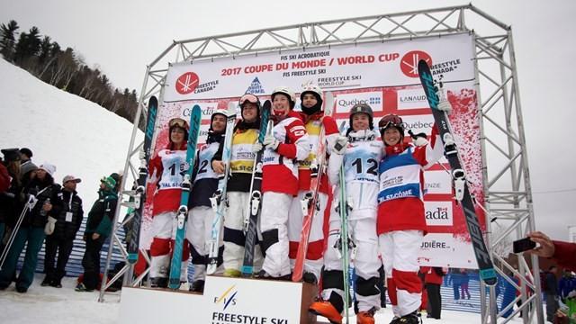 Canada dominate home FIS Moguls World Cup in Val St Come
