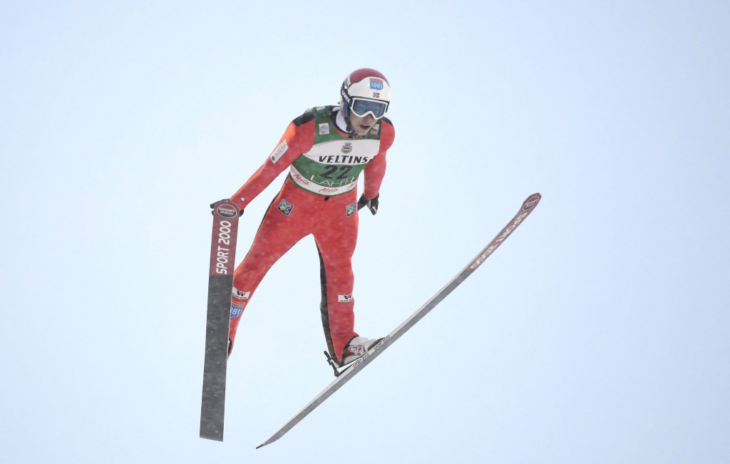 Jarl Magnus Riiber won the ski jumping but finished 23rd ©Getty Images