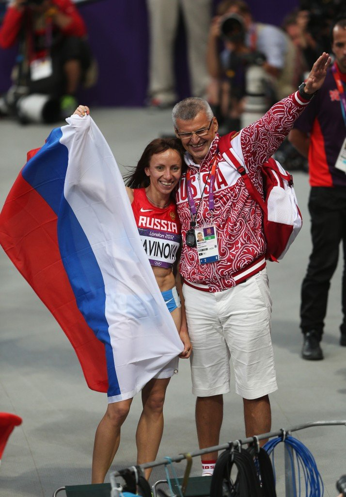Vladimir Kazarin coached London 2012 800m Olympic gold medallist Mariya Savinova, who was implicated among several Russian runners ©Getty Images