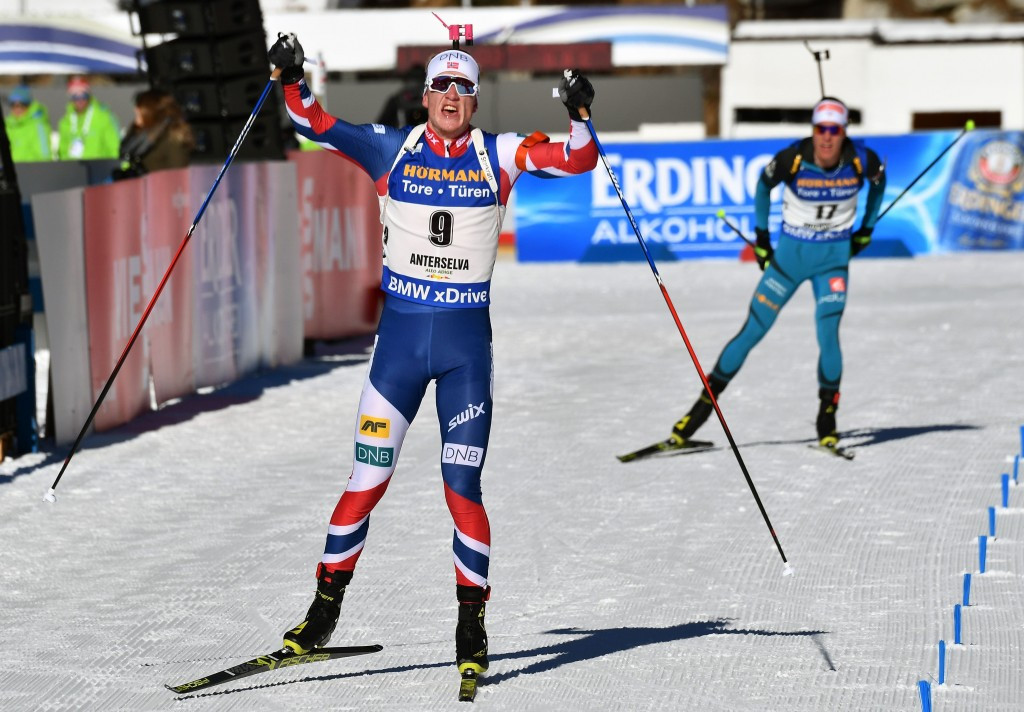 Boe wins mass start event at IBU World Cup in Antholz