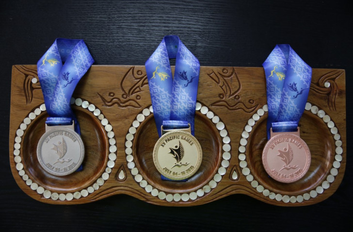 The first Port Moresby 2015 medals were awarded on a packed day of Pacific Games action ©Port Moresby 2015