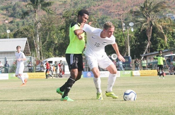 New Zealand continued their 100 per cent start to the Olympic qualifying football tournament with a slender 1-0 win over Papua New Guinea