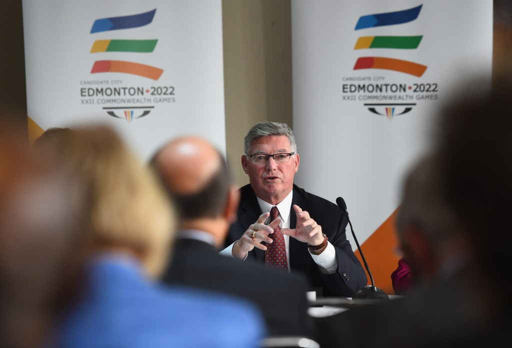 Edmonton's 2022 Commonwealth Games bid, headed by Reg Milley, was abandoned due to falling oil prices ©Getty Images