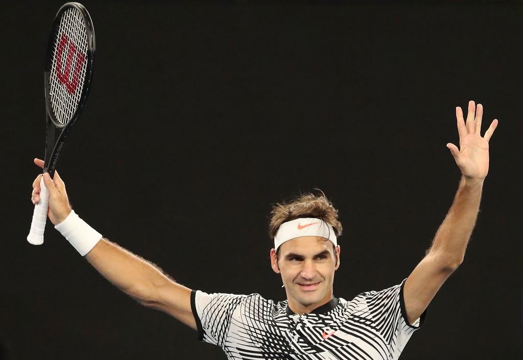 Roger Federer of Switzerland defeated Germany's Mischa Zverev to reach the Australian Open semi-finals ©Getty Images