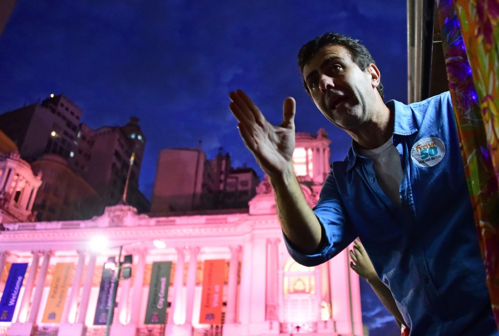 Rio Mayor Marcelo Crivella opened part of the park ©Getty Images