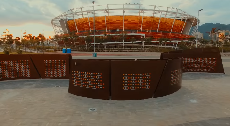 A  Wall of Champions was unveiled in the Olympic Park in Barra de Tijuca last week ©Youtube