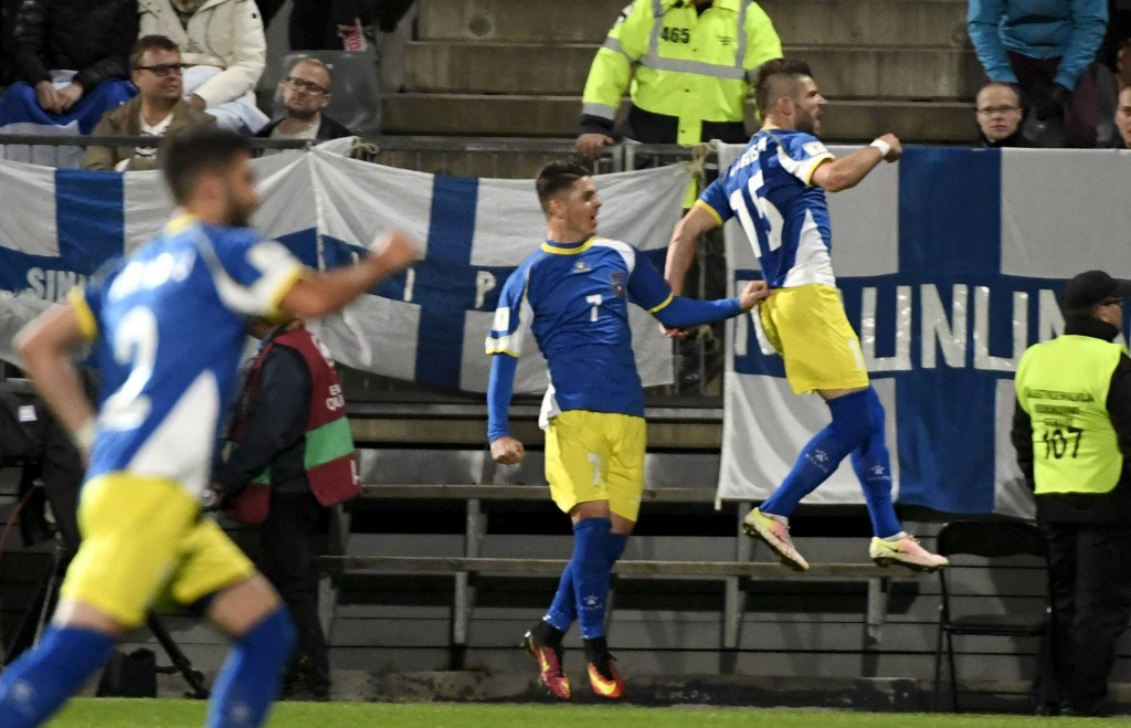 Kosovo earned their first World Cup qualifying point when they drew with Finland ©Getty Images