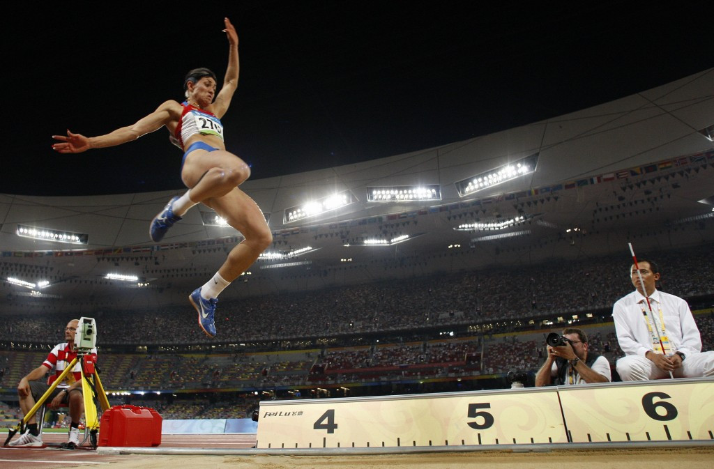 Russia'sTatiana Lebedeva has also been stripped of the Olympic silver medals she won in the long and triple jumps at Beijing 2008 after re-analysis of her sample showed banned drugs ©Getty Images