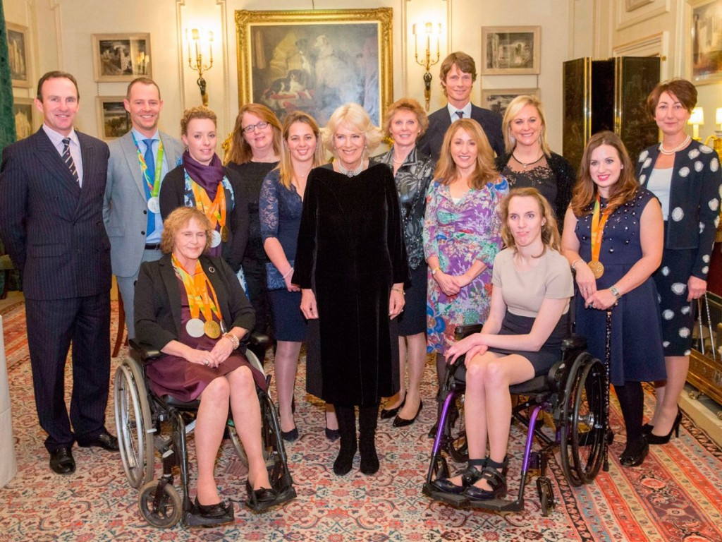 Duchess of Cornwall hosts receptions for Britain's Rio 2016 equestrian stars