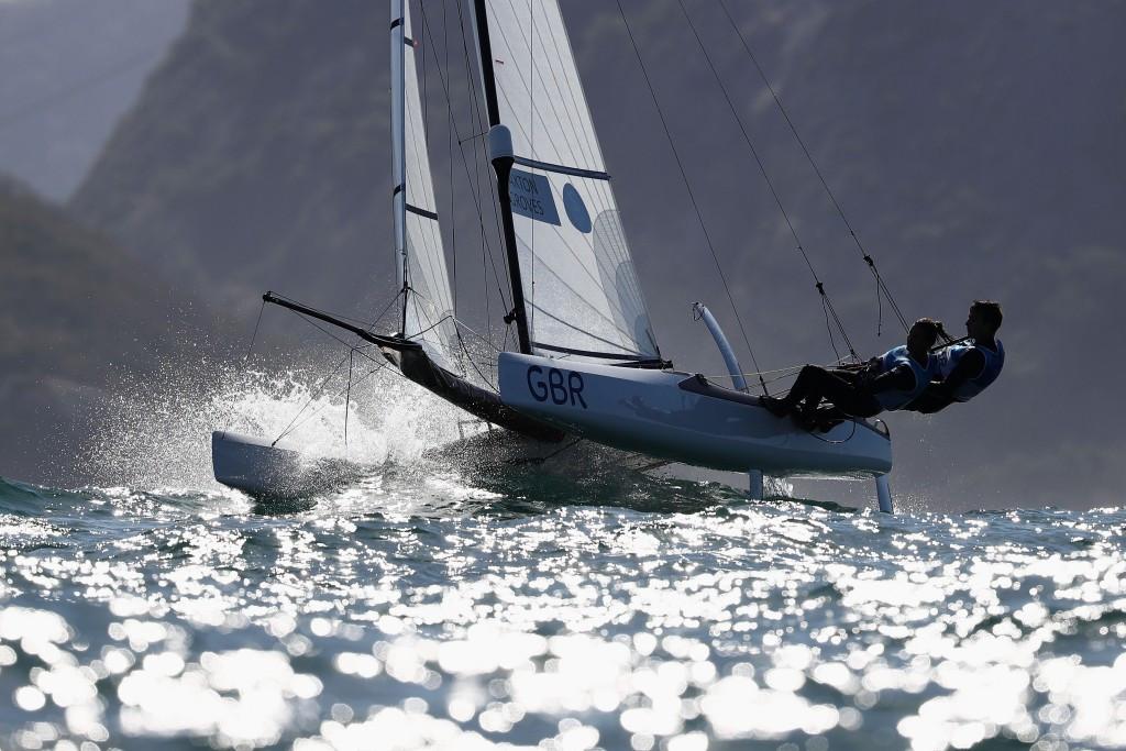 Saxton and Groves climb Nacra 17 standings at Sailing World Cup