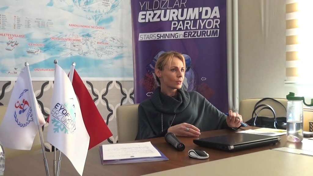 European Olympic Committees EYOF manager Katerina Nycova has praised preparations for Erzurum 2017 ©EOC