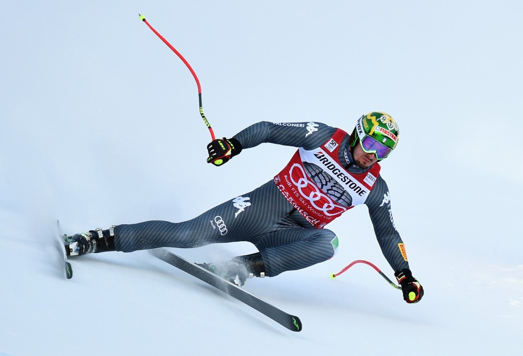 Italy's Dominik Paris heads into the Garmisch-Partenkirchen stage of the International Ski Federation World Cup on top of the downhill leaderboard ©Getty Images