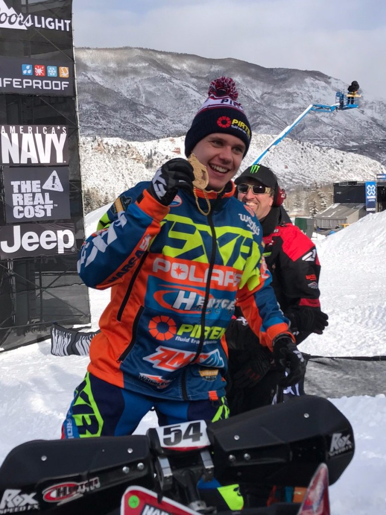 Sweden's Petter Narsa won the SnoCross title to earn his maiden Winter X Games gold medal ©X Games