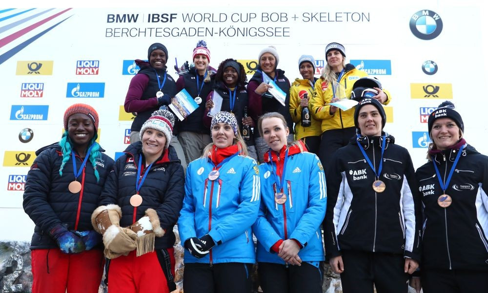 Meyers Taylor wins third consecutive women's bobsleigh World Cup triumph