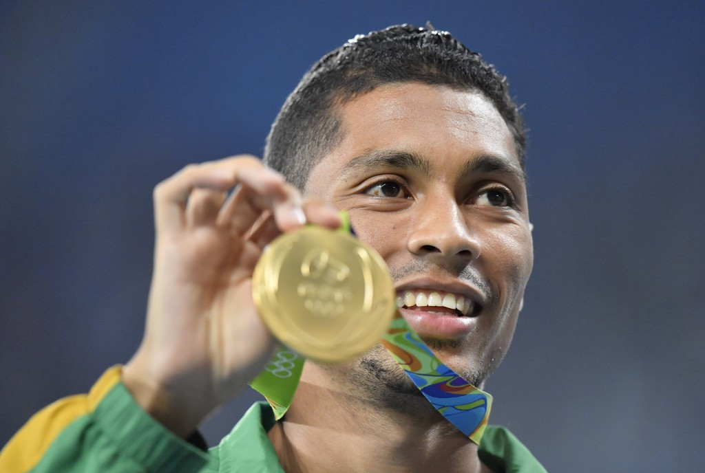 Olympic 400 metres champion and world record holder Wayde Van Niekerk has vowed to challenge Jamaican sprint king Usain Bolt ©Getty Images