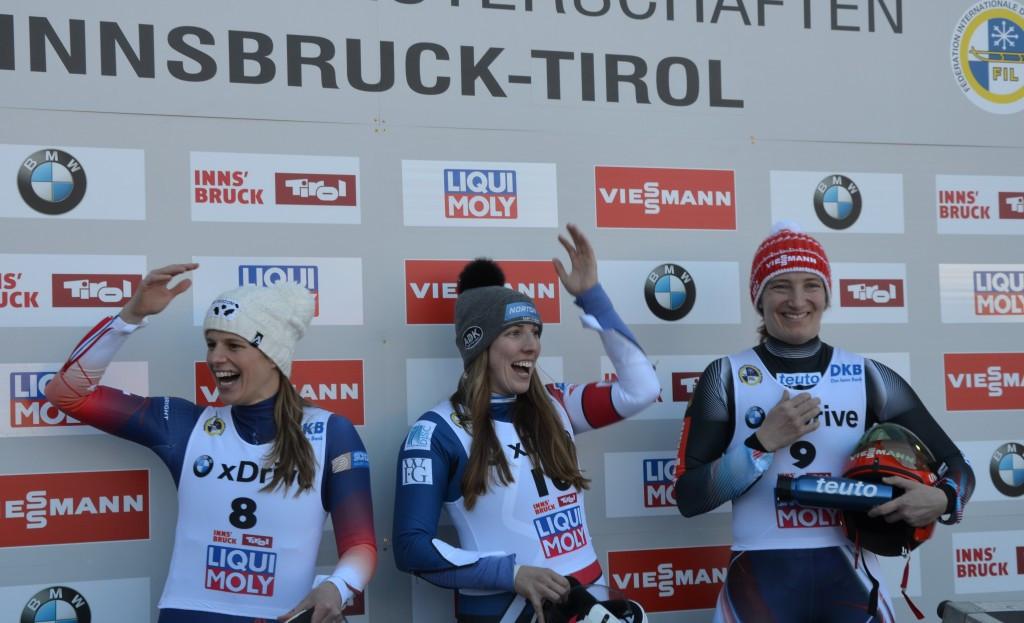 Hamlin and Kindl secure luge sprint world titles
