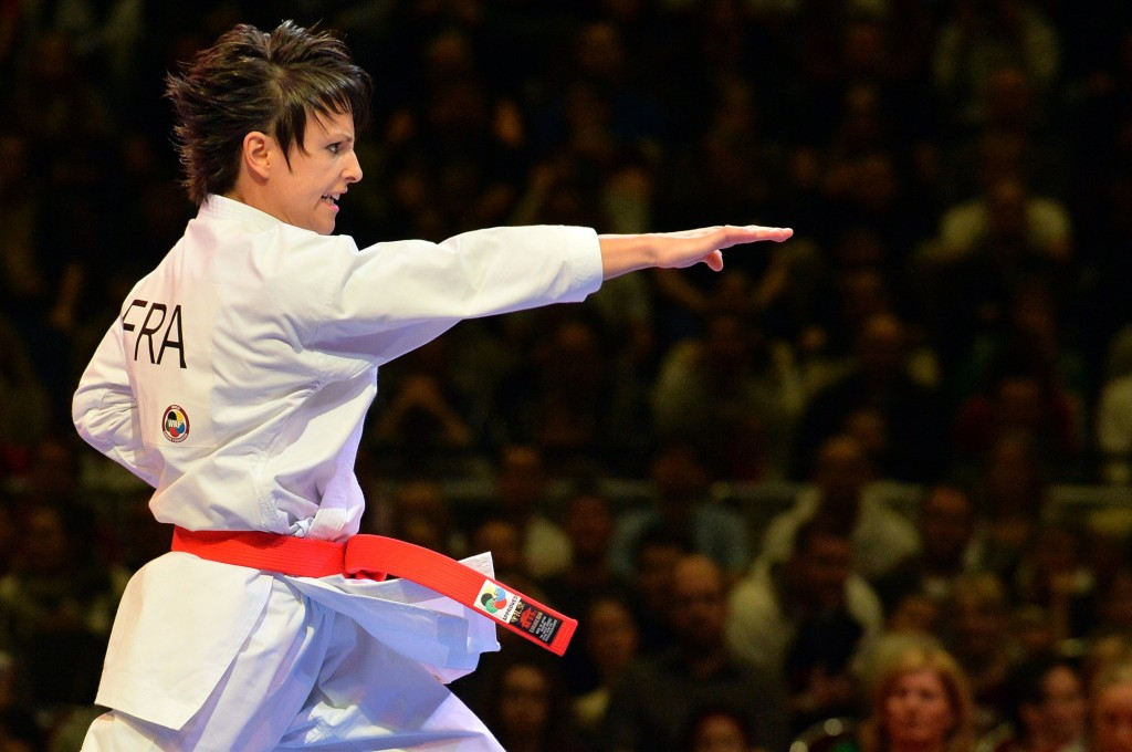 Sandy Scordo reached the final of the women's kata event in front of a home crowd ©Getty Images