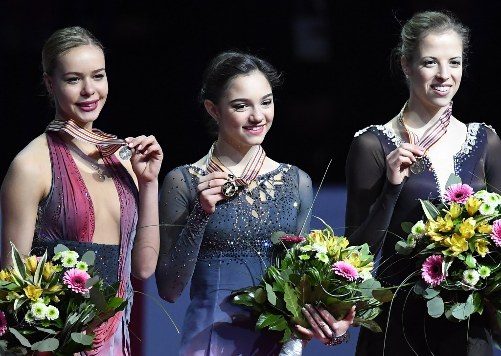 Evgenia Medvedeva defended her ladies crown in the Czech Republic ©Getty Images