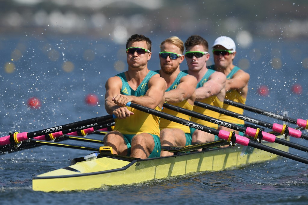 Australia's quadruple sculls team were named Male Crew of the Year ©Getty Images