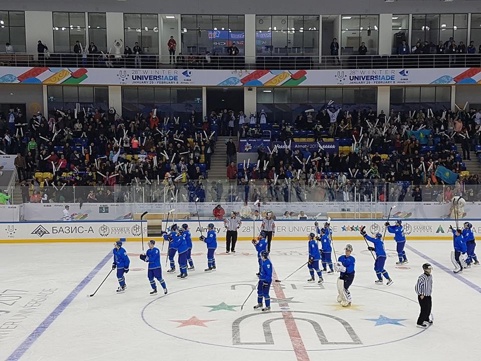 Kazakhstan thump China 22-0 on opening day of 2017 Winter Universiade ice hockey