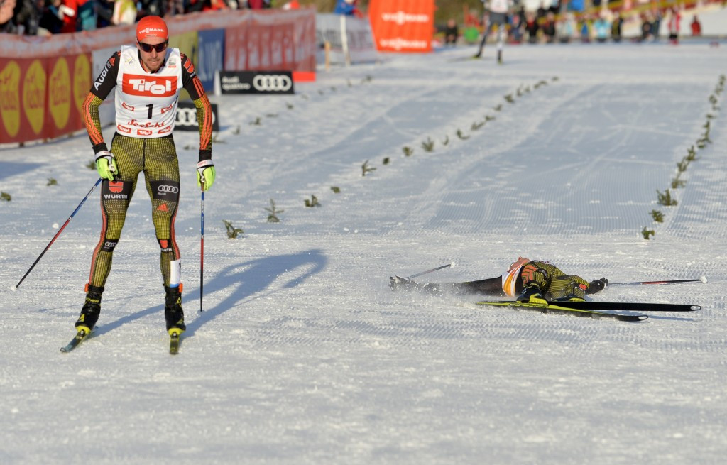 Rydzek edges Frenzel again to take Nordic Combined World Cup lead