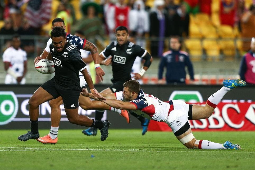 New Zealand unbeatable at World Rugby Sevens Series in Wellington