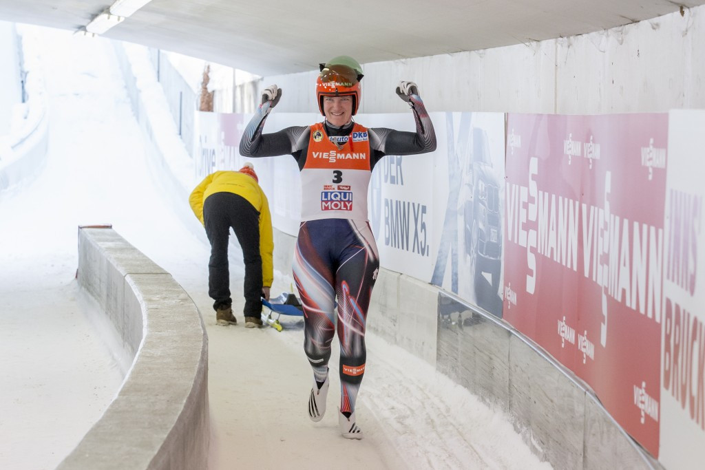Tatjana Huefner claimed the luge world title today ©Getty Images