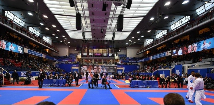 Alizée Agier booked her place in the final of the women's under 68 kilograms kumite category ©WKF