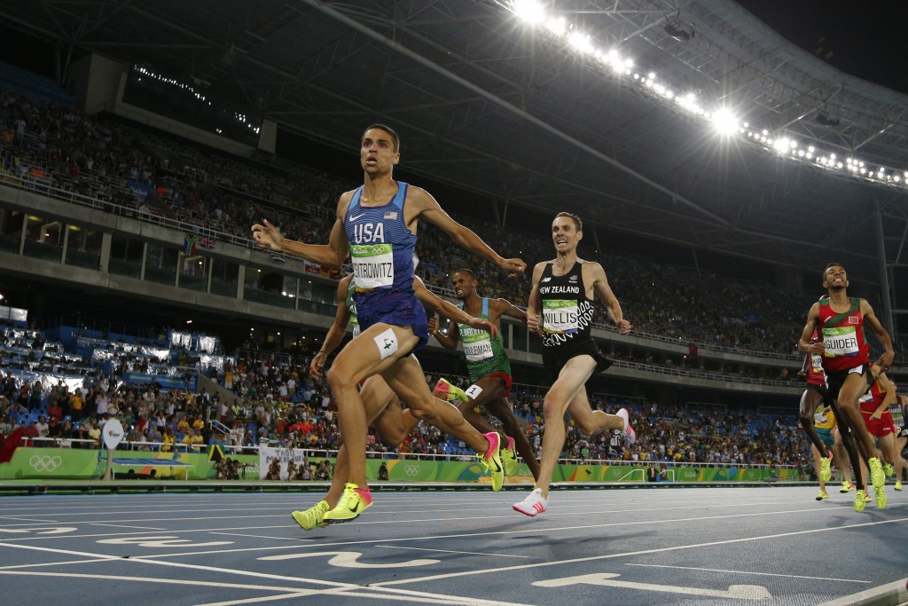 Olympic gold medallist Matt Centrowitz claimed victory in the men's one mile race ©Getty Images