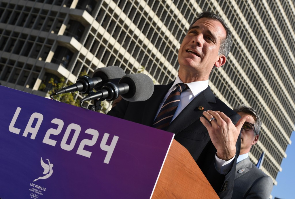 Los Angeles Mayor Eric Garcetti has criticised President Donald Trump's controversial executive order on immigration ©Getty Images