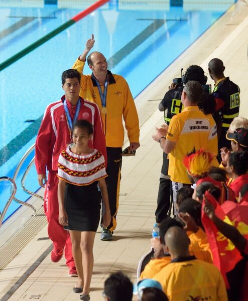 Port Moresby 2015 poster-boy Pini delivers the goods as four Pacific Games swimming records tumble