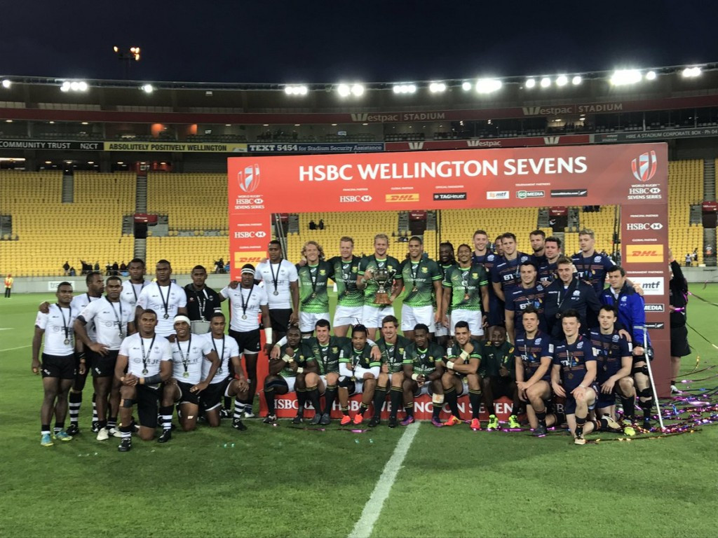 South Africa win World Rugby Sevens Series stage in Wellington