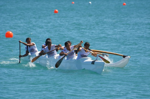 Tahiti swept the va'a gold medals with a supreme performance on the second day of Port Moresby 2015 ©Port Moresby 2015