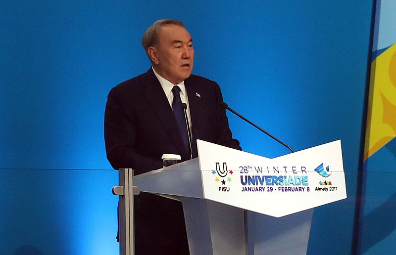 Kazakhstan President declares Almaty 2017 Winter Universiade open