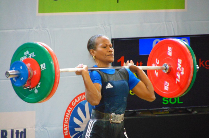 The Solomon Islands' Jenly Tegu Wini won all three gold medals in the women's 58kg class