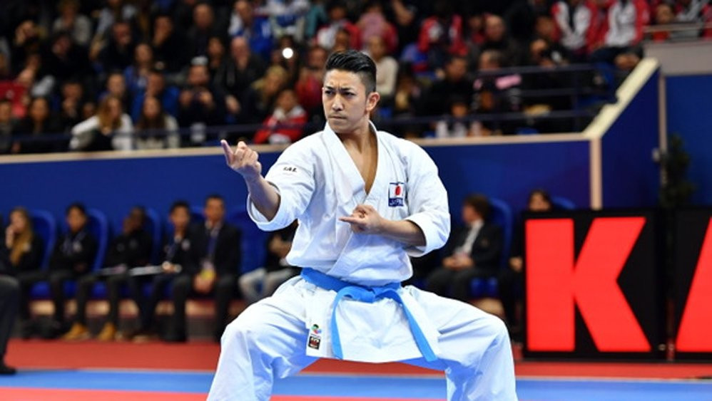 Ryo Kiyuna is one of several Japanese stars hoping to make an impression at the Tokyo 2020 Olympic Games ©WKF