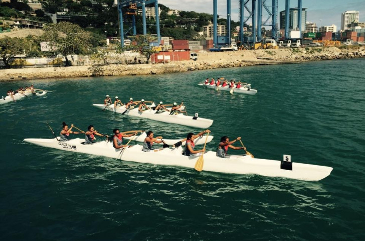 Va'a made its Port Moresby 2015 bow today at the Lancron Naval Base @Varua Va'a Limited/Facebook