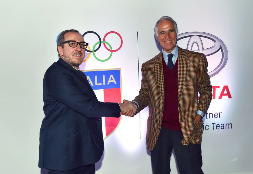 The agreement between the CONI and Toyota is due to run until the end of 2024 ©CONI