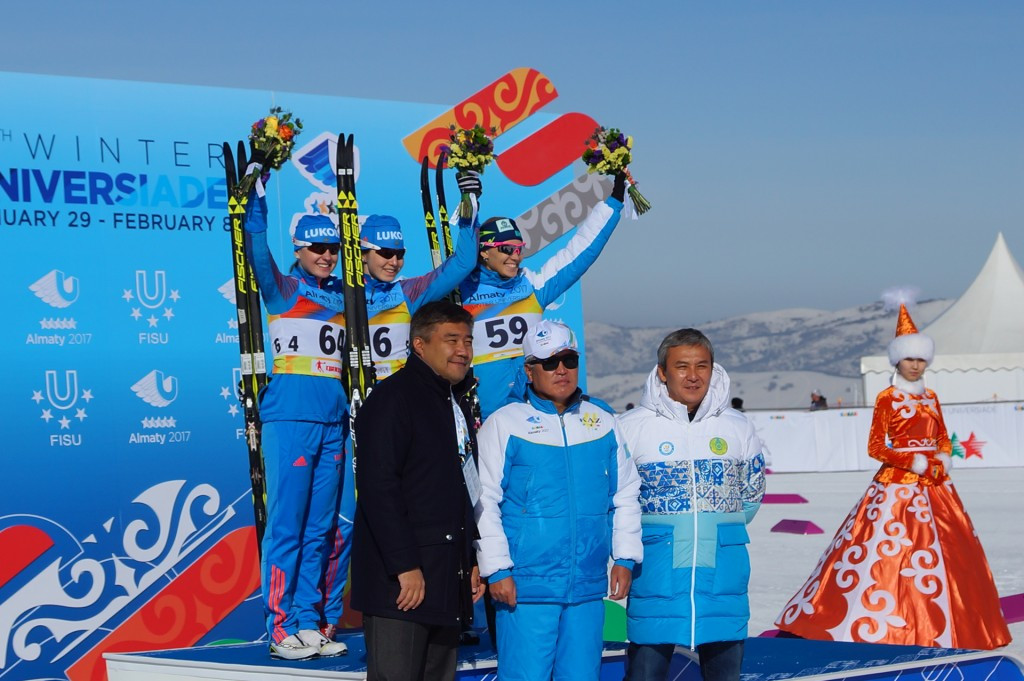 Double Russian gold on opening day of cross-country skiing at Almaty 2017
