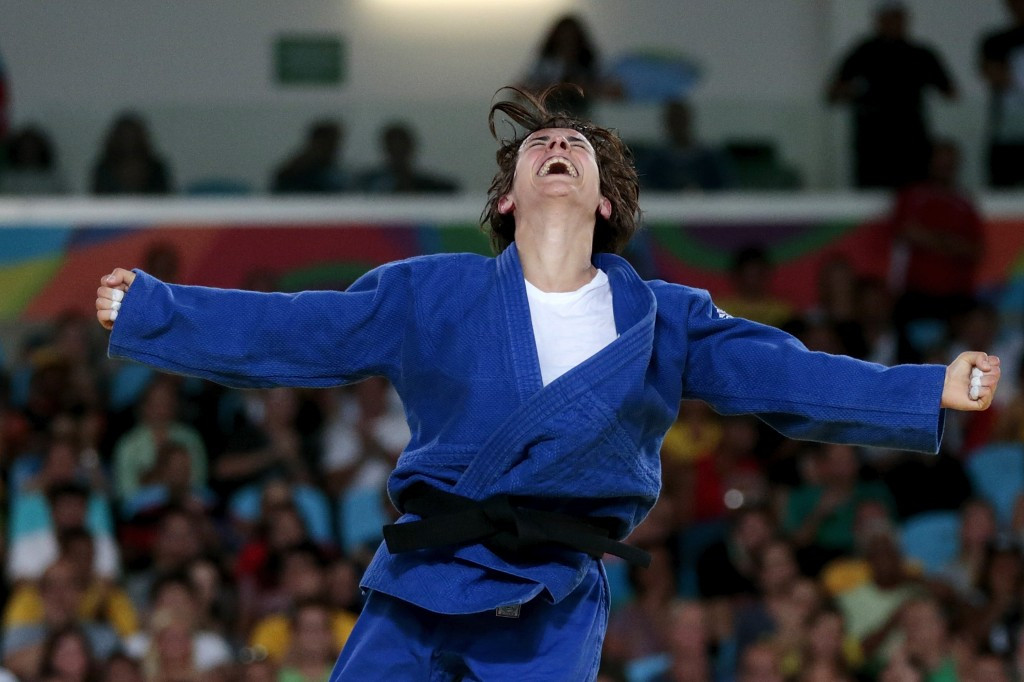 Sandrine Martinet of France is one of five Paralympic champions to lead the IBSA judo world rankings ©Getty Images