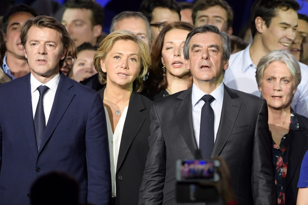 A bad week for François Fillon, centre right, could help the French Presidential prospects of Marine Le Pen ©Getty Images
