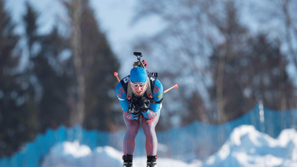 Russians return from doping bans to net European biathlon treble